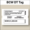 BCW DT Tag 3.00 X 5.00 - 1