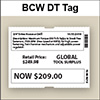 BCW DT Tag 4.00 X 3.00 - 1