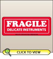 1.50 X 4.00 Fragile - Delicate Instruments [SG-075]