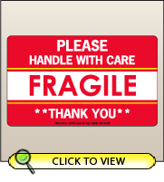 3.00 X 5.00 Fragile - Handle With Care [SG-315]
