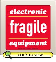 4.00 X 4.00 Fragile - Elec Equipment [SG-640]