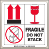 4.00 X 4.00 Fragile - Do Not Stack [SG-670]