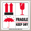 4.00 X 4.00 Fragile - Keep Dry [SG-685]