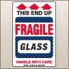 4.00 X 6.00 Fragile - Glass [SG-815]
