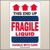 4.00 X 6.00 Fragile - Liquid [SG-825]