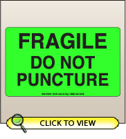 3.00 X 5.00 Fragile - Do Not Puncture [FG-360]