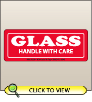 1.50 X 4.00 Glass - Handle With Care [SG-220]