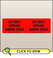 3.00 X 10.00 Do Not Break Down Skid [FR-590]