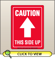 3.00 X 4.00 Caution - This Side Up [SG-245]