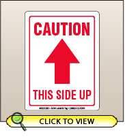 3.00 X 4.00 Caution - This Side Up [SG-260]