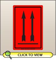 4.00 X 6.00 Arrow Up [FR-625]