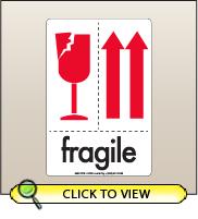 4.00 X 6.00 Fragile - Arrow Up [SG-670]