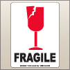 3.00 X 4.00 Fragile - Cracked Glass [SG-315]