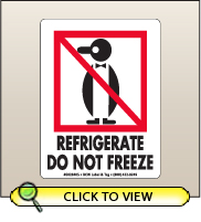 3.00 X 4.00 Refrigerate - Do Not Freeze [SG-405]
