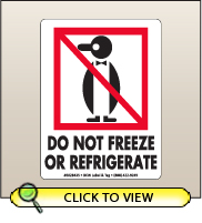 3.00 X 4.00 Do Not Freeze Or Refrigerate [SG-435]