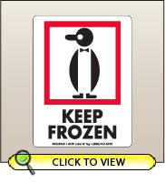 3.00 X 4.00 Keep Frozen [SG-450]