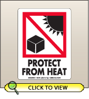 3.00 X 4.00 Protect From Heat [SG-465]