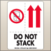 3.00 X 4.00 Do Not Stack - Arrow Up [SG-555]