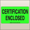3.00 X 5.00 Certification Enclosed [FG-690]