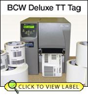 BCW Tt Tag 3.00 X 4.00 - 3