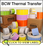 BCW Thermal Transfer 2.25 X 1.25 - 1