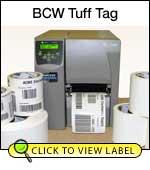 BCW Tuff Tag 3.00 X 5.00 - 3
