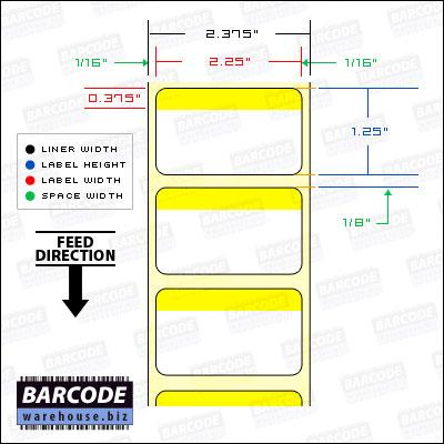 "BCW DT 2.25 X 1.25 Horiz Stripe - 1"" Core"