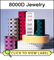 Zebra 17757 8000D Jewelry - With Flaps (Case 12)